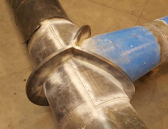 Exemple de réalisation en tuyauterie de Charly Serrurerie